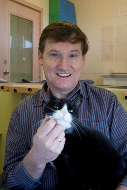 Craig Daniell with cat